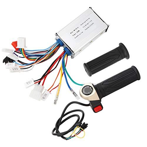 Emoshayoga Kit de Controlador sin escobillas de 24 V y 250 W, Controlador de empuñadura de Acelerador Universal Adecuado para Accesorios de actualización de Scooter de Equilibrio eléctrico