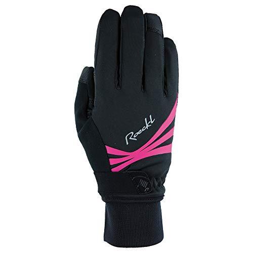 Roeckl Wilora Damen Winter Fahrrad Handschuhe schwarz/pink 2021: Größe: 6
