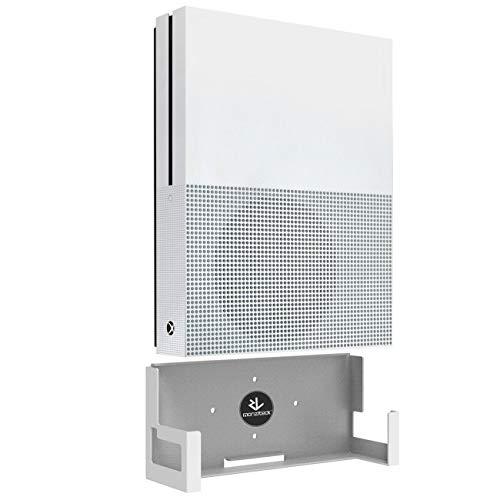 Monzlteck - Soporte de pared para Xbox One S, diseño minimalista, fácil de instalar (blanco)