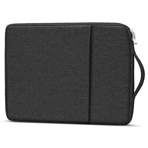 "13.3 inch Laptop Sleeve Case Computer Bag w/Handle for Dell Inspiron 13 / Latitude, Lenovo Yoga 730 720, LG Gram, Google Pixelbook Go, 13.5"" Surface Laptop 2 3, HP Envy 13t, 12.5-13.3 Notebook -Black"