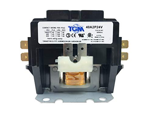 TGM Contactor 2 Pole 40 Amps 24 Coil Voltage Heavy Duty