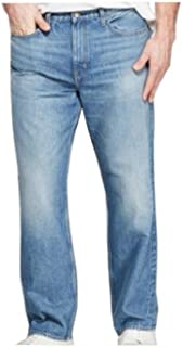 Mens Big & Tall Size 48Wx30L Relaxed Fit Jeans, Light Wash
