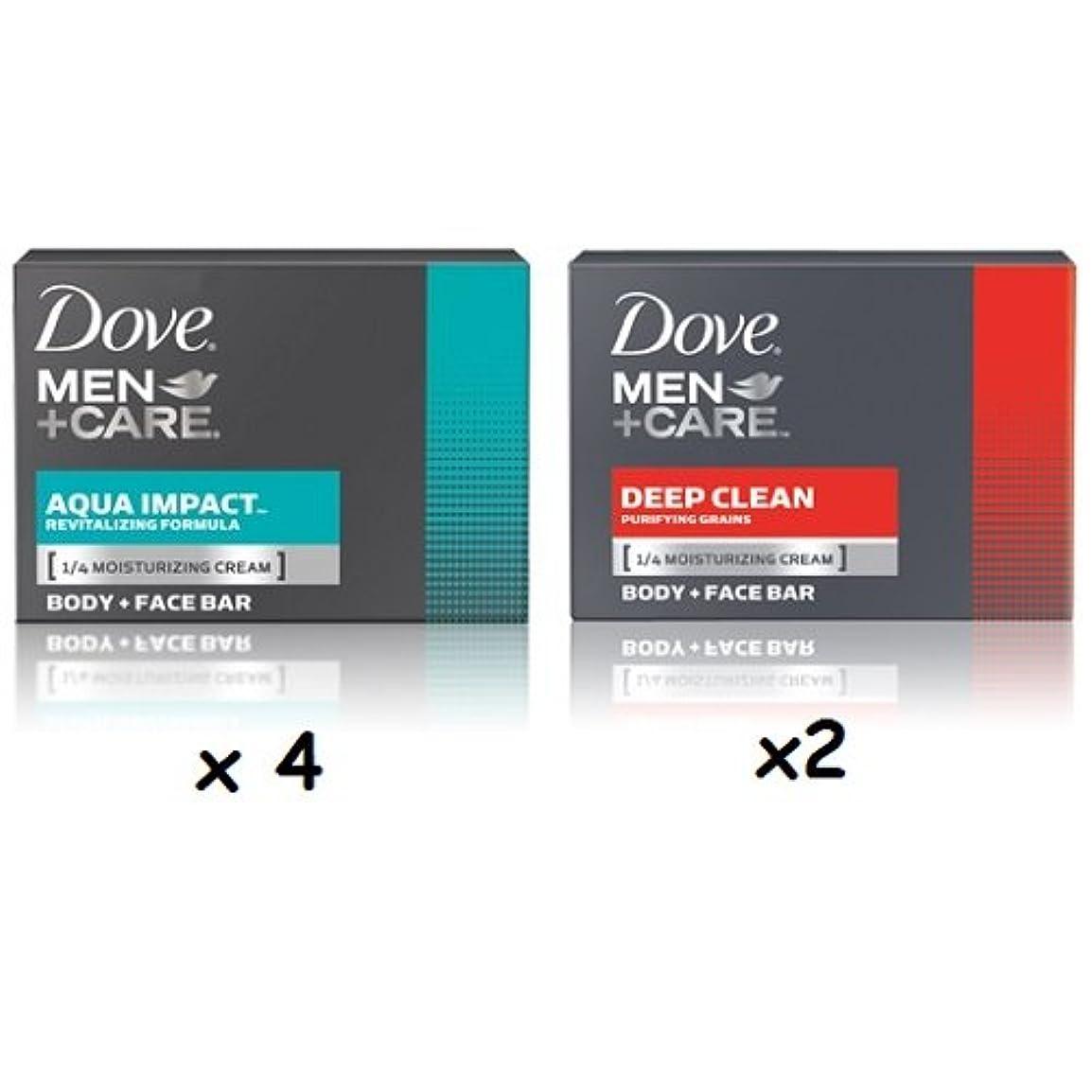 トランクライブラリ耳について【6個セット】Dove MEN+CARE Body&Face Bar Soap (4ozx6) ダヴ メンズプラスケア 体&顔用の固形石鹸(113gx6)(Deep Clean 4個とAqua Impact2個 合計6個セット)