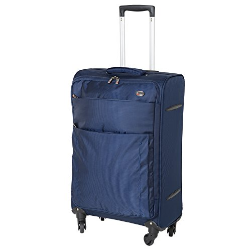 JAM Voyager 19' Navy Super Light Trolley Case Wheeled Travel Suitcase Luggage