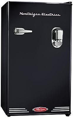 Nostalgia Electrics Retro Series Compact Refrigerator with Dispenser