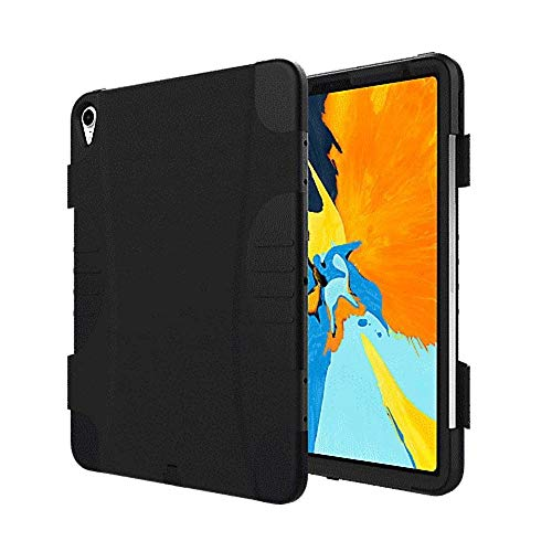 Verizon Rugged Case with Built-in Pen Holder, Screen Protector for 11-inch iPad Pro Tablet - Black