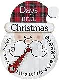dh-10 Calendario de Adviento de Navidad Decoraciones Colgantes de Navidad Muñeco de Nieve Creativo Colgante de Cuenta Regresiva de Navidad para Decoraciones del hogar en Interiores/Exteriores