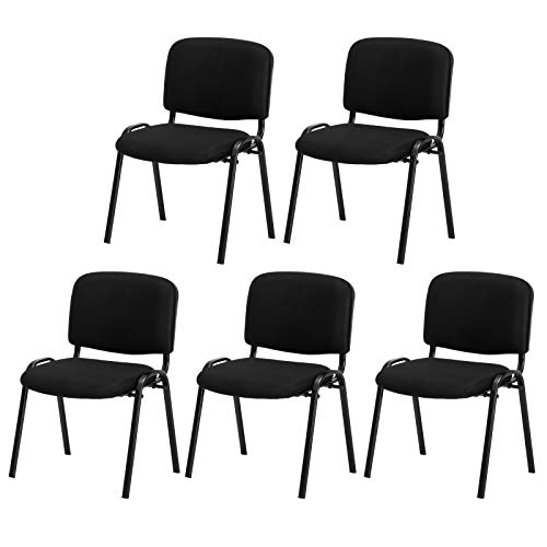 TUFFIOM 5 Pack Conference Chair, Stackable Reception Guest Chair, Ideal for Office Waiting Room,Conference Room & Guest Reception