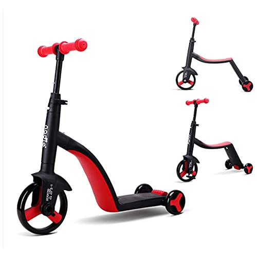 SOPHM5 Patinete Freestyle 3 en 1 Niños Niños Scooter Balance Coche Bicicleta de Equilibrio para niños por 2-6 años de Edad Triciclo Multifuncional para bebés (Color : B)