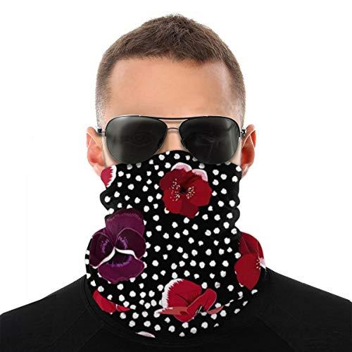 best pillow Rojo Floral Pasamontañas de Calavera Máscara Facial de Poliéster de Motocicleta Bicicleta Bragas de Cabeza