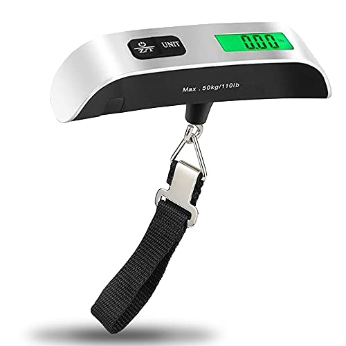 Anmete Bilancia Digitale Valigia 50kg 110lb Bilancia Pesa Bagagli Valigie da Viaggio...