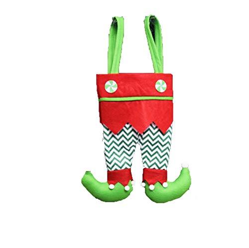 Kerstmis FANGQIAO SHOP Tas Snoep Tas Kerstman Elf Sokken Voet Cover Leggings Gevulde Broek