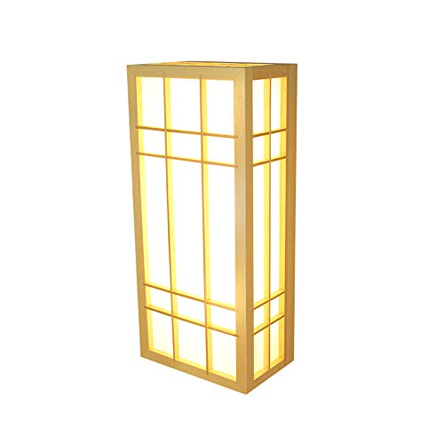 Bûches De Style Japonais En Bois Massif Led Lampes Murales Simples Grand Hôtel Bains Salle De Sueur Tatami Lampes En Bois,11 * 20 * 80Cm