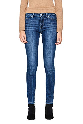 edc by ESPRIT Damen 997CC1B817 Skinny Jeans, Blue Medium Wash 902, W28/L32