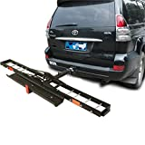 LSAMX Universal Safety 2 Type Rear Motorcycle Rack/Hitch Mount Motorcycle Carrier Frame/Car Accessories, High...