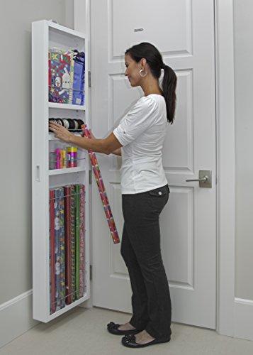 Cabidor Deluxe | Mirrored | Behind The Door | Adjustable | Medicine, Bathroom, & Kitchen Storage Cabinet
