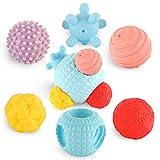 Baby Sortier-Spielzeug weiche Match Bälle Badewannenspielzeug Bade Ball Sensorische Spielzeug Ball Multi Textur Zusammenbauen Puzzle Set für Baby ab 6 8 12 Monate