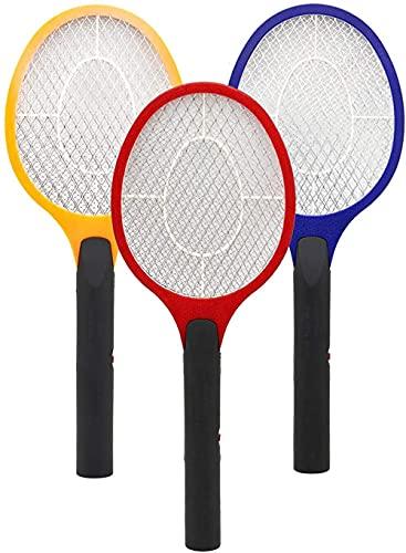 HYJWYAS Mosquito eléctrico Fly Switter 3er Set Fly Catcher Zapper Insectos Asesino con Capas Dobles Protección de Malla