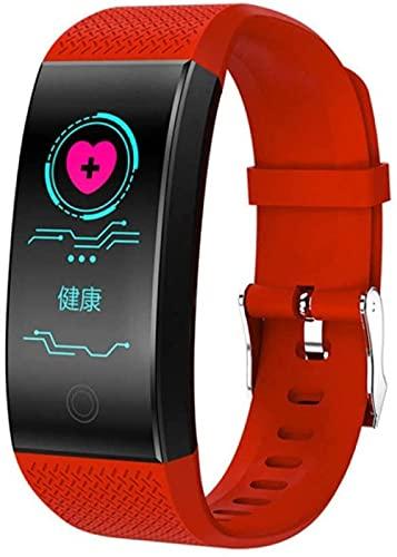 Pulsera Inteligente Ip68 Impermeable Pulsera Inteligente Smartband Presión Arterial Fitness Tracke Reloj Negro Oro-Rojo