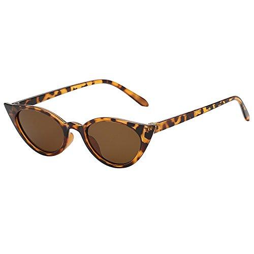 Lazzboy Frauen-mann-weinlese-katzenauge-unregelmäßige Form-sonnenbrille Eyewear Retro Unisex Damen Triangle Sonnenbrille Brillen Katzenauge Jahrgang Cat Eye Sonnenbrillen(H)