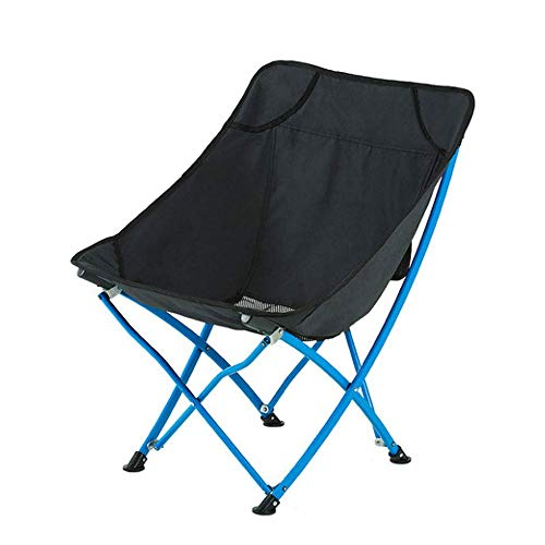 SYLOZ-URG Silla Plegable Ligera Silla de Camping portátil for Senderismo, Playa, Pesca, Asiento al Aire Libre (Heavy Duty 120 kg) URG (Color : Negro)