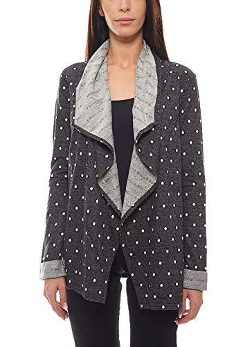 Roxy Sweatjacke Pullover Verschlussloser Damen Cardigan Midnight Bloom Jacke Freizeit-Jacke Schwarz, Größe:S