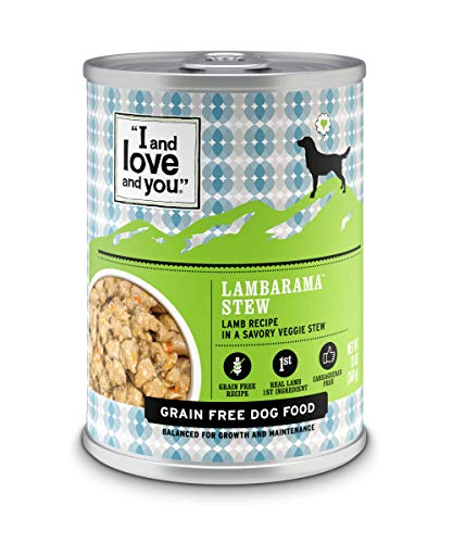 I and love and you Naked Essentials Wet Dog Food - Grain Free and Canned, Lamb, 13-Ounce, Pack of 12 Cans