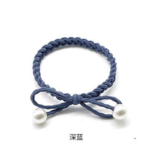 XIAOYANJIA Haar Ring Hoofd Touw Kleine Verse Sen Vrouwelijke Vrouwelijke Rubber Band Sokken Hoofd Touw Headdress Japanse en Koreaanse Sieraden Gloednieuwe Haartouw, Donker Blauw