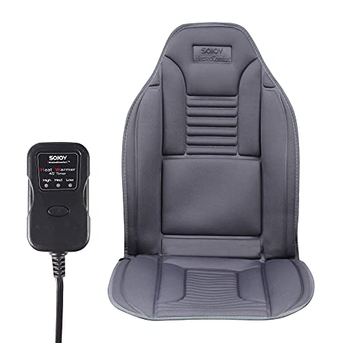 Sojoy Winter Foam Car Seat Cushion with Comfort Foam, Chair Pad for Car, Home,Office in No-Slip Back Cover Gray