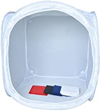 Bestshoot 24x24 inch/60x60 cm Photo Studio Shooting Tent Light Cube Diffusion Soft Box Kit with 4 Colors Backdrops (Red Dark Blue Black White) for Photography