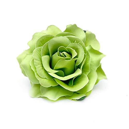 LoveAloe Party Kopfschmuck Rose Haarnadel Hochzeit Haarblumen Geschenk Schmuck Haarspange Mädchen Blume Brosche, Grün