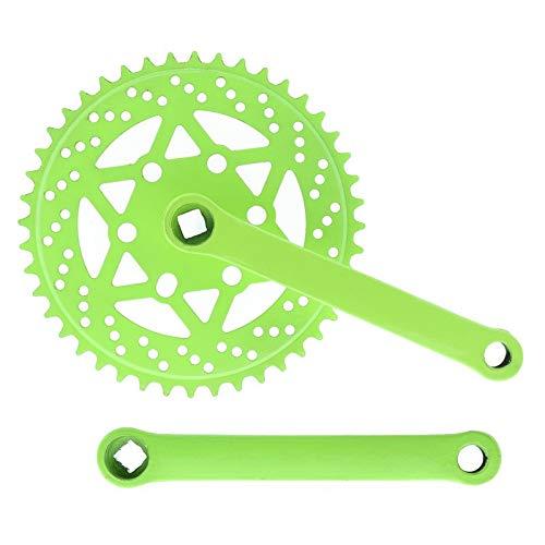 Riscko 007sml Juego De Bielas Bicicleta Personalizada Fixie Tallas S-m-l-l Urb Verde Fluor
