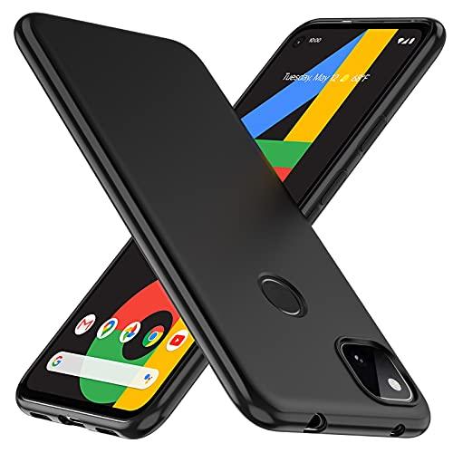 TesRank Cover per Google Pixel 4a Cover, Custodia Sottile in TPU Morbido, Cover Protezione Anti Scivolo per Google Pixel 4a-Nera