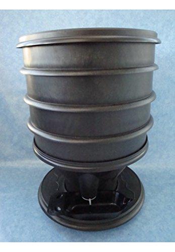 Eco-Worms - Lombricomposteur Coloris Noir