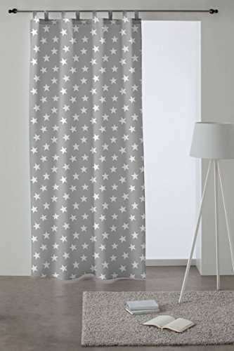 Martina Home Cortina con Trabillas modelo Polar 140 x 260 cm - color Gris
