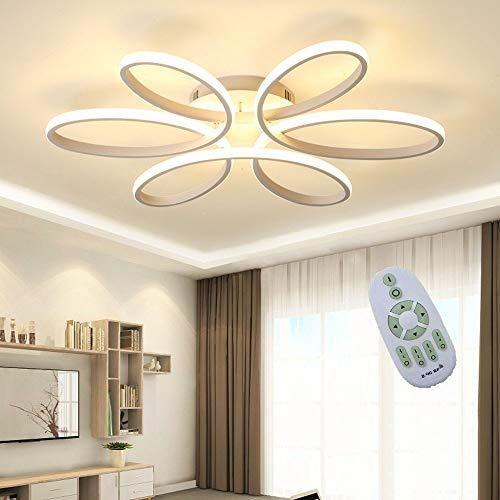 Luz de techo LED, lámpara de techo con forma de flor creativa de 85 vatios, pantalla de acrílico Lámpara de techo moderna y elegante de aluminio mate Lámpara de techo de la sala de estar del dormitori