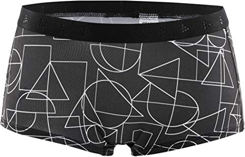 Craft Culotte Greatness Waist Bande Boxer W BL/White Femme, Noir/Blanc, XL