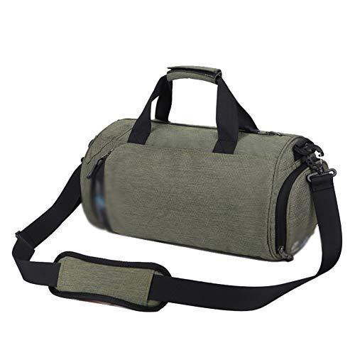 Sporttasche für Männer und Frauen - mit Schuhfach & Nassfach - Sport, Fitness, Gym Bag,Grün,37 * 22 * 20cm