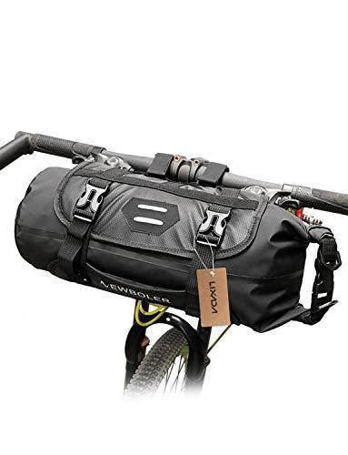 Lixada Bolsa de Manillar para Bicicleta Impermeable Capacidad Ajustable Desmontable Bolsa Delantera para Bicicleta 3-7 L