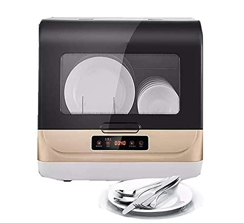 N/Z Equipo para el hogar Lavaplatos de sobremesa Completamente automático Pequeño Smart Mini Lavavajillas Spray 70 Grados;Esterilización a Alta Temperatura 1250w con Estante de 6 Posiciones Blanco