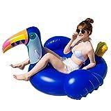 LYzpf Flotador Inflable Pájaro Carpintero Gigante Colchoneta Hinchable para Playa de Verano Piscina Juguete Agua Fiesta Natación para Adultos y Niños