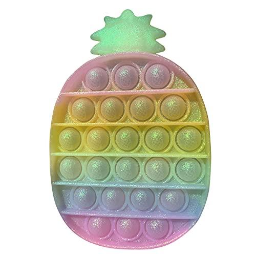 Rpporm Push Pop Bubble Fidget Toys, Push Regenbogen Farbe zur Ablenkung bei Stress & Nervosität Spielzeug Geschenk für Kinder und Erwachsene Billig Fidget Toy