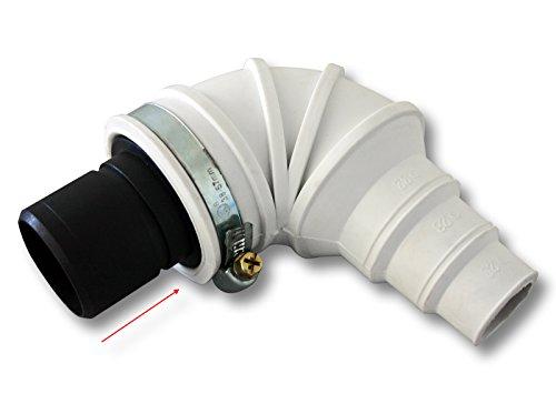 Rückschlagventil Rückschlagklappe DN40 40 mm Winkel 90° Stufentülle Schlauchschelle
