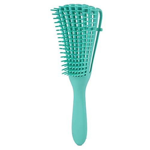 Detangler Bürste Haarbürste Entwirrungsbürste für lockiges Haar für Afro-Haare 3a bis 4c Verworrenes Welliges, Lockiges Haar, Verbesserung der Haartextur,Entwirrer leicht mit Nass/Trocken (Grün)
