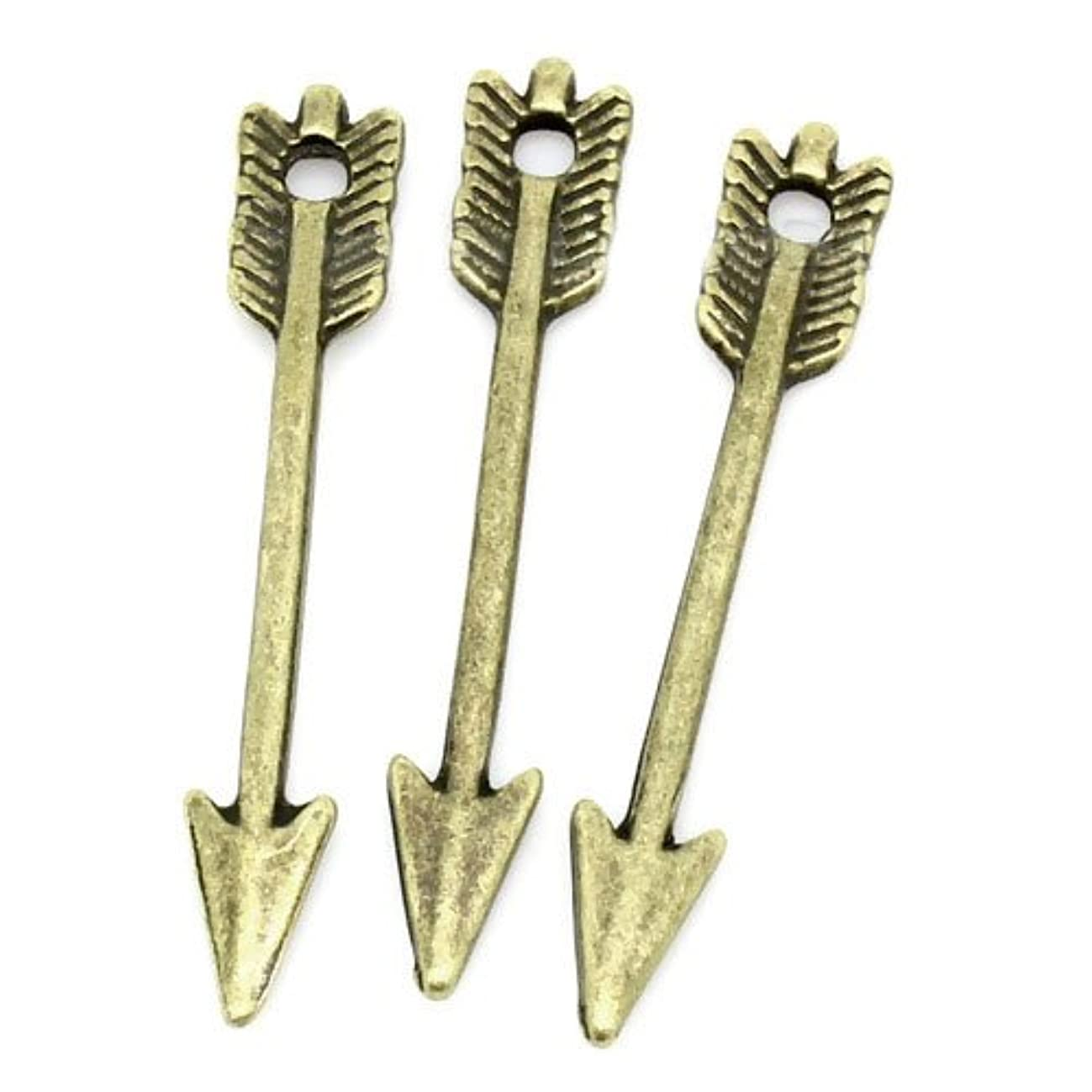 95 PC Bronze Tone Tibetan Arrow Charm Pendants 29x5mm, Jewelry Making DIY Steampunk
