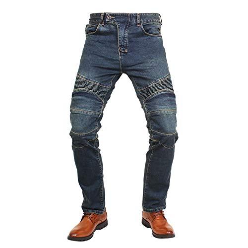 YXYECEIPENO Pantalones De Motociclista para Hombre Vaqueros De Moto para Mujer Pliegues Elásticos De Ajuste De Pantorrilla Ajuste Fuerte, Fácil De Poner Y Quitar. (XS = 26, XS-5XL)