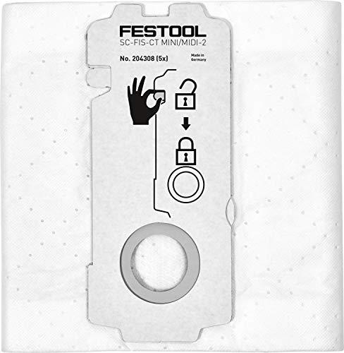 Festool Filtersäcke FIS-CT Mini/Midi-2 Herstellernr. 204308, Schwarz/Grün
