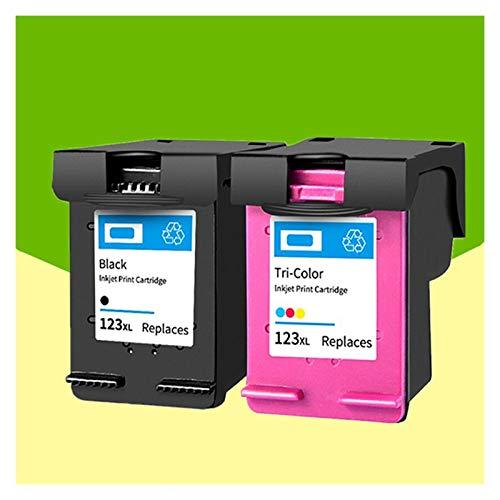 WENAN Cartuchos de la Impresora Asw 123 OfficeJet 3830 3831 3832 3834 Impresora para Cartuchos de 123xl para HP DeskJet 1110 1111 1112 Cartucho de Tinta (Color : 1BK 1Tri Color)