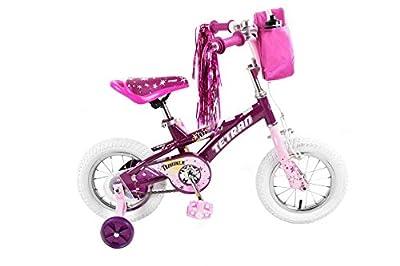 Tetran Twinkle Freestyle BMX Bike, 12/16 inch, Pink, Purple, White (Purple, 16 inch)