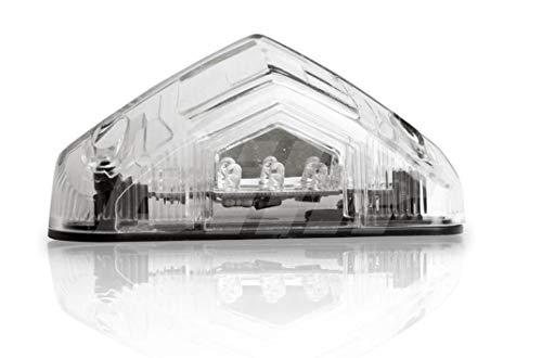 Luz Trasera LED Transparente 83 x 22mm, Certificado E con luz de matrícula Universal
